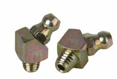 DIN 71412 BS цинк желтый Пресс-масленка с самонарезающие резьбой 45/67 градусов