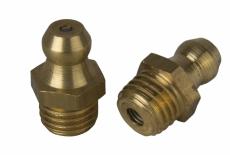 DIN 71412 А латунь Пресс-масленка гидравлическая прямая 180 градусов