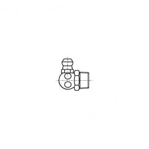 DIN 71412-С A1 Пресмаслянка гідравлічна кутова 90 градусів