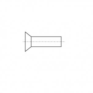 DIN 661 A2 Заклепка під молоток з потайною головкою