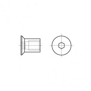 ART 9062 A1 Гайка-муфта з внутрішнім шестигранником