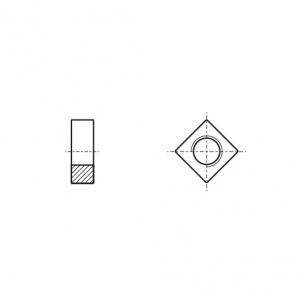 DIN 562 A4 Гайка квадратна
