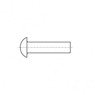 DIN 660 A2 Заклепка под молоток с полукруглой головкой