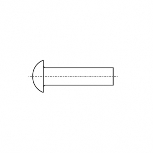 DIN 660 AL Заклепка під молоток з напівкруглою головкою
