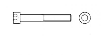 DIN 912 12,9 UNC Болт з циліндричною головкою і внутрішнім шестигранником з дюймовою різьбою