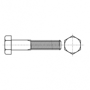 DIN 931 8,8 UNC Болт з шестигранною головкою і частковою різьбою, дюймовою різьбою