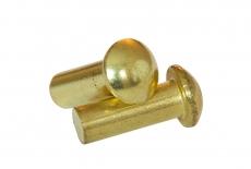 DIN 660 латунь Заклепка під молоток з напівкруголою головкою