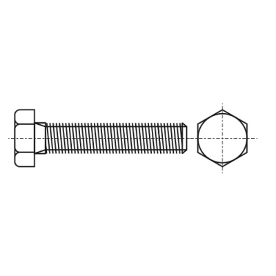 DIN 933 8,8 UNС Болт с шестигранной головкой и полной резьбой, дюймовой резьбой