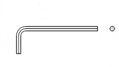 AN 158 хром Ключ шестигранный