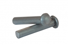 DIN 660 цинк Заклепка під молоток з напівкруголою головкою