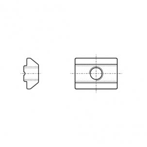 AN 602 цинк Гайка для профілів