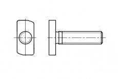 AN 612 8,8 цинк Болт Т-образный