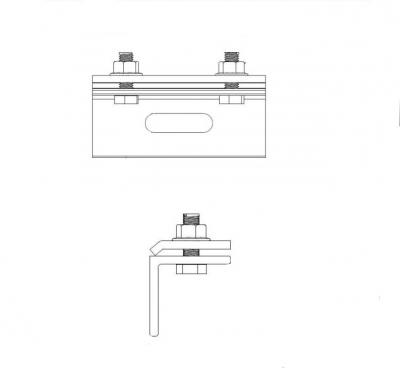 ART 9583 A2 Зажим для швов под углом