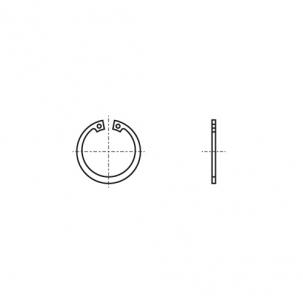 DIN 472 Кольцо стопорное внутреннее стальное