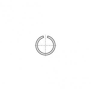 DIN 7993 A A2 Кольцо стопорное наружное