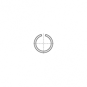 DIN 7993 A A2 Кільце стопорне зовнішнє
