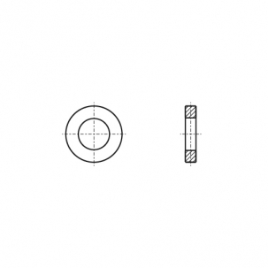 DIN 1440 A4  Шайба плоска усилена