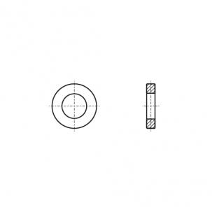 DIN 1440 цинк Шайба плоская усилена