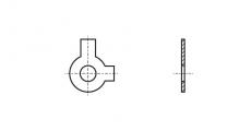 https://dinmark.com.ua/images/DIN 463 Шайба стопорна з двома лапками