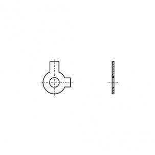 DIN 463 A2 Шайба стопорная с двумя лапками