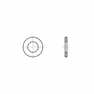 DIN 9021 200HV цинк платковий Шайба збільшена