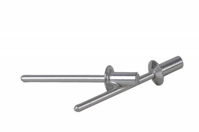 DIN 7337 Al / Al Заклепка вытяжная герметичная c плоским буртиком