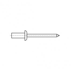 DIN 7337 St / St Заклепка вытяжная герметичная c плоским буртиком