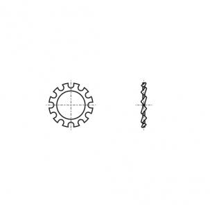 DIN 6797-A A2 Шайба стопорна зубчаста