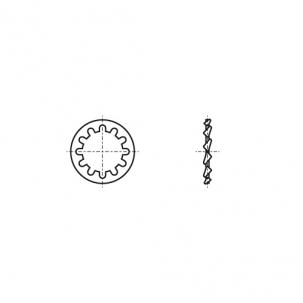 DIN 6797-J A2 Шайба стопорна зубчаста