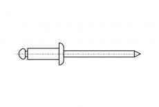 DIN 7337 Al / St Заклепка вытяжная с плоским буртиком