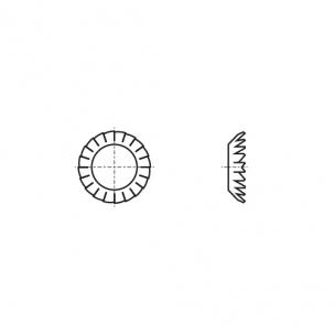 DIN 6798-V цинк Шайба стопорна зубчаста
