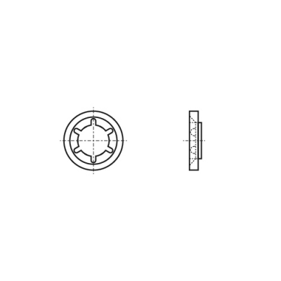 AN 82 Шайба Starlock без покриття