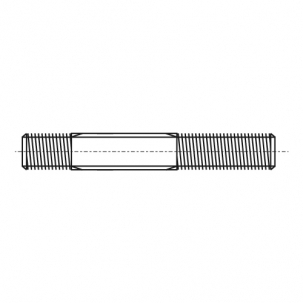 DIN 939 A2 Шпилька різьбова з допуском 1,25d