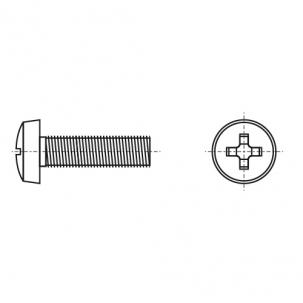 DIN 7985 A4 Гвинт з напівкруглою головкою і хрестоподібним шліцом PZ