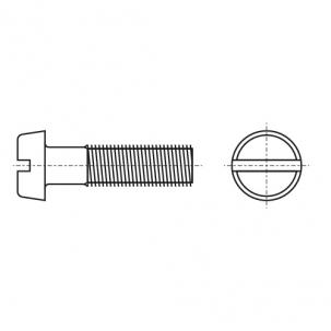 DIN 84 A2 Винт с полукруглой головкой и прямым шлицем