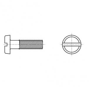 DIN 85 A2 Винт с полукруглой головкой и прямым шлицем