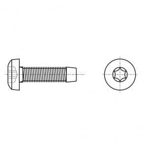DIN 7500 C цинк Винт с полукруглой головкой под torx