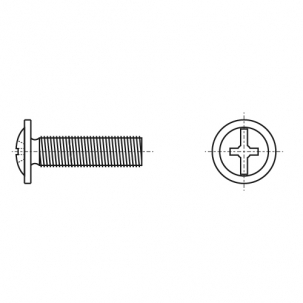 DIN 967 цинк Гвинт з напівкруглою головкою і пресшайбою