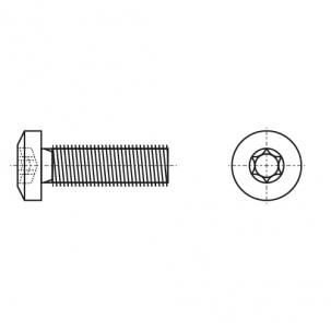 ISO 14583 A4 Гвинт з напівкруглою головкою під torx