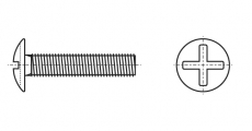 https://dinmark.com.ua/images/NFE 25-129 Винт с полукруглой головкой и крестообразным шлицем