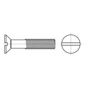 DIN 963 A2 Винт с потайной головкой и прямым шлицем