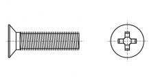 https://dinmark.com.ua/images/DIN 965 Гвинт з потайною головкою і хрестоподібним шліцом