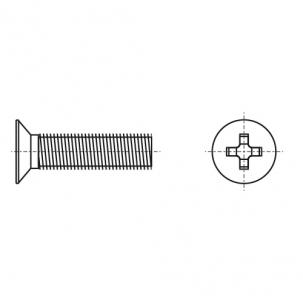DIN 965 A2 Гвинт з потайною головкою і хрестоподібним шліцом PZ