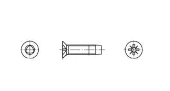 DIN 7500 M A2 Гвинт з потайною головкою самонарізаючий PZ - Dinmark
