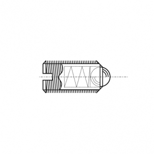AN 420 Гвинт установочний з прямим шліцом і кулькою сталевий - Dinmark