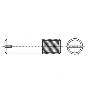 DIN 427 A1 Винт установочный с прямым шлицем