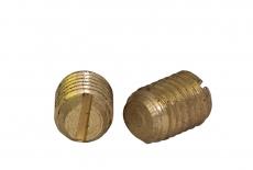 DIN 551 латунний Гвинт установочний з прямим шліцем і плоским кінцем