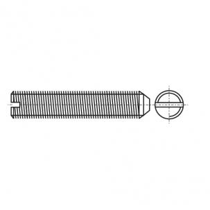 DIN 553 Винт установочный с прямым шлицем и коническим концом стальной