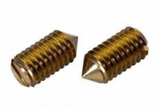 DIN 553 латунний Гвинт установочний з прямим шліцем і конічним кінцем