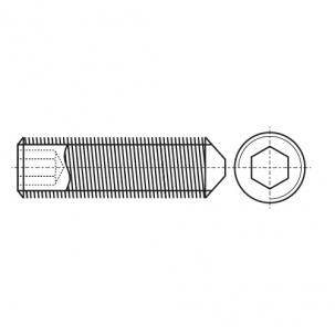 DIN 914 Гвинт установочний з внутрішнім шестигранником сталевий